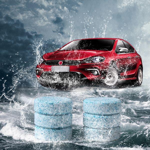 6pcs / lot voiture pare-brise compacte rondelle de verre propre nettoyant comprimés effervescents détergent essuie-glace solide rondelle de pare-brise instantanée