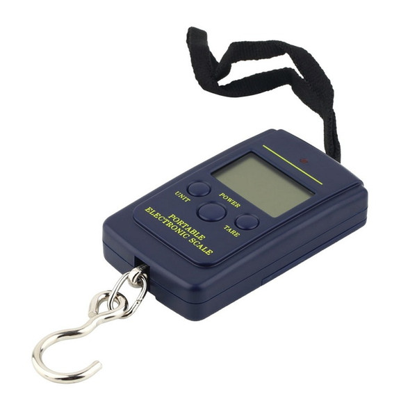 top popular High Quality 20g 40Kg Digital Scales LCD Display hanging luggage fishing weight scale H1765 navy blue 1pcs 2020