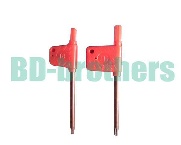 top popular T6 T7 T8 T9 T10 T15 T20 Torx Screwdriver Spanner Key Small Red Flag Screw Drivers Tools 200pcs lot 2019
