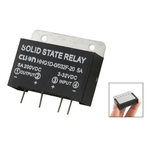 FS Hot Heat Sink Input 3-32V DC Output 5A 200V DC PCB Mount SSR Solid State Relay order<$18no track