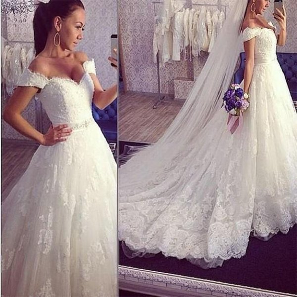 Vintage Ball Gown Wedding Dresses 2018 Hot Sale Backless Corset Victorian Gothic Plus Size Wedding Bridal Gowns Cheap Off the Shoulder Lace