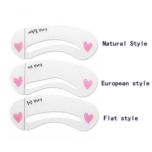 3 Styles Eyebrow Stencis,Grooming Brow Painted Model Kit DIY Beauty Eyebrow Template,Eyebrow Styling Tool For Makeup