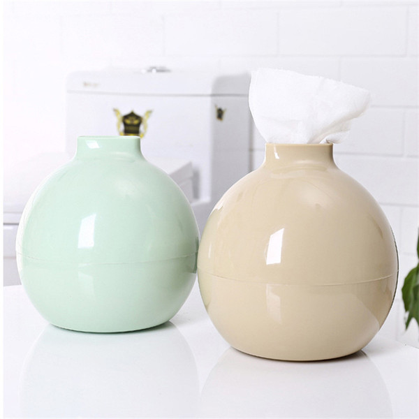 Home Round Plastic Baby Wipes Towel Box Living Room Dining Room Cartoon European Style Tissue Boxs Napkin Holder