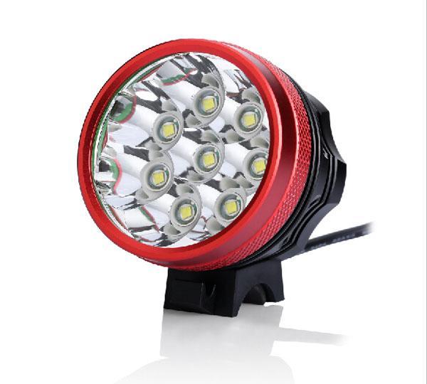 12000 Lumens 8xCREE XM-L T6 LED Headlight 8T6 Headlamp Bicycle Bike Light Waterproof Flashlight+8.4V 18650 Battery Pack+Charger