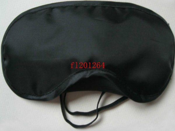top popular Free Shipping Whoelsale Normal Eyeshade Eye Mask Comfortable Sleeping Mask For Rest Relax Travel Black color,200pcs lot 2019