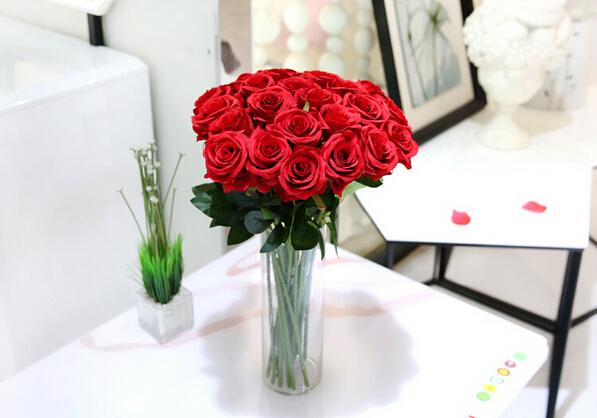 15% off hot sale 10pcs Wedding Decoration red Rose Artificial Flowers Decorative Silk Flowers Home Party Decor,sale outlets drop shipping