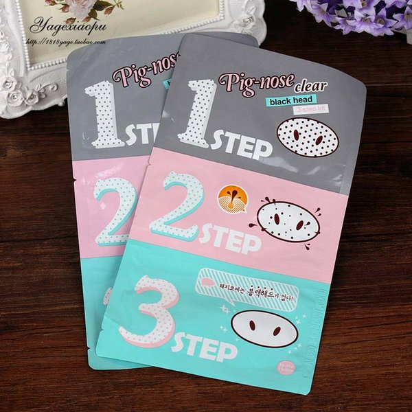 Pig Nose Clear Black Head Perfect Sticker 3 steps Clear Black Head Mask Blackhead Remover