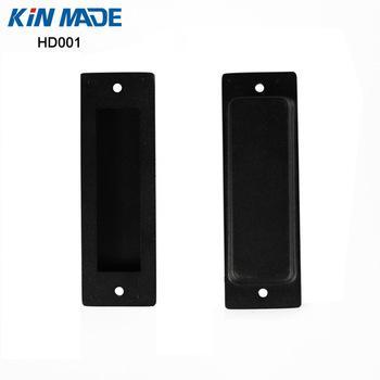 KINMADE Barn Door Flush Pull Black Rectangular Recessed Sliding Wooden Door Pull Handles with Mount Screws Included