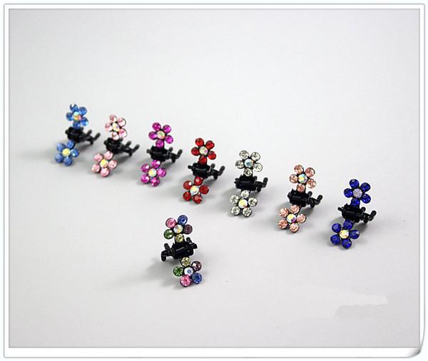 best selling Wholesale Plum blossom Rhinestone Metal Hair pins