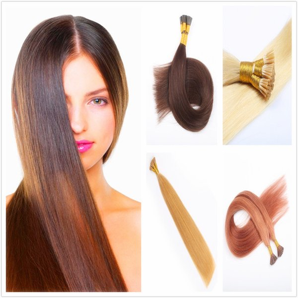 100 Strands 16 28inch Keratin Stick Hair Hair Extensions Real Hair I