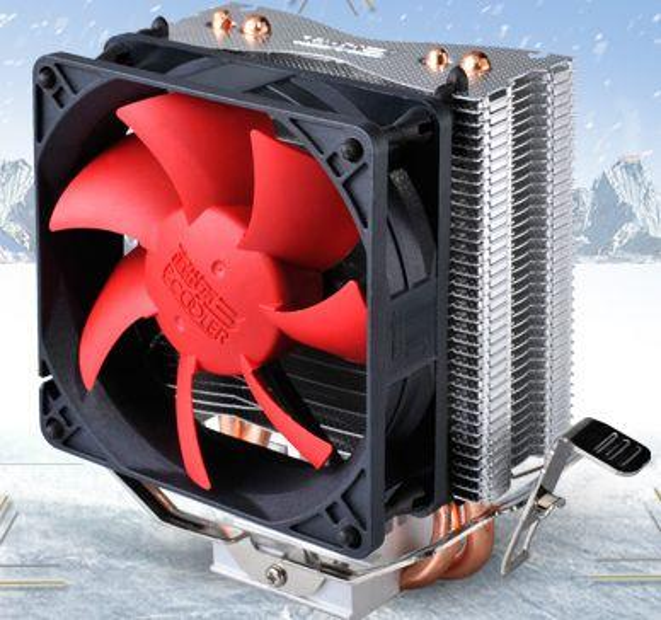 PCCOOLER 1pcs 8cm fan 2 heatpipes CPU cooler Redsea (HONGHAI) mini for multi-platform LGA1150/1155/1156/775/AM3/AM2/FM1/FM2