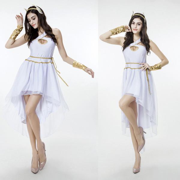 Großhandel Neue Weiße Griechische Göttin Kleider Hallo Lo Frauen ...