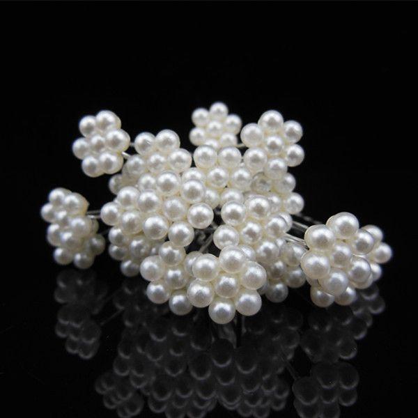 top popular New Bridal Hair Accessories Full Peals Bride U Hair Pins Comb Wedding Accessories Clips Charming Headpieces Girl Tiaras Handbands 2021
