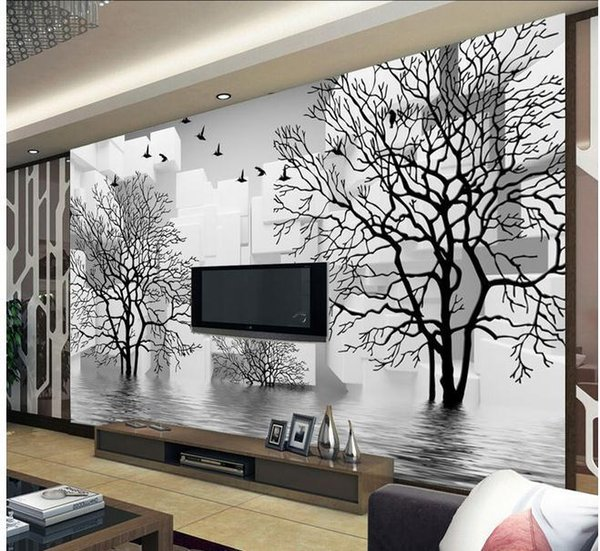 Papel de parede 3D TV backdrop abstract water woods mural wall sticker new large wallpaper wall paper costomize size 896628