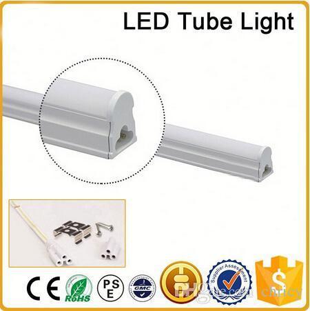 CE RoHS FCC+3ft 0.9m T5 LED tube light high super bright 10W Warm/nature/cold white LED Fluorescent Bulbs AC85-265V integration tube