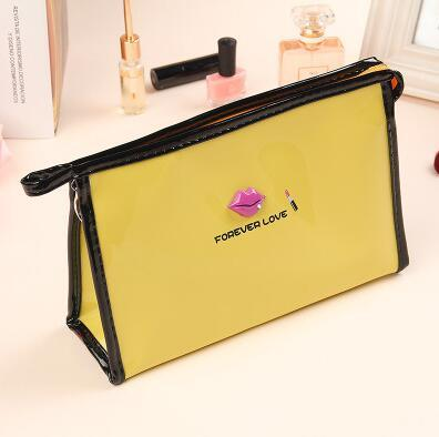 8colors 23.5*8*15.5cm Lip Waterproof Cosmetic Bags Womens Daily Transparent Travel Makeup Case Toiletry Wash Pouch