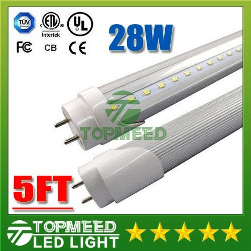 CE UL 4ft 22W 5ft 28W T8 Led Tube Light 2800lm 110-240V Led lighting Replace 1.5m Fluorescent Tube Lamp +Warranty 3Years 5050