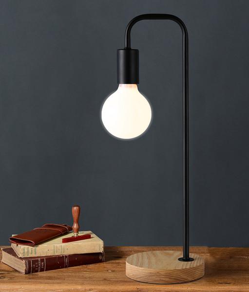 De Edison Lámpara Para Porcelana Compre LED Lámparas Escritorio Mesa Country Retro Halógeno De Industrial Hierro Negro Dormitorio Vintage American 8On0wPk