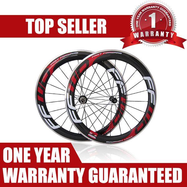 Red FFWD F6R 60 millimetri in lega in fibra di carbonio della bici della strada del freno Suface Ruote F5R Carbonio Alluminio strada rotelle di bicicletta Clincher