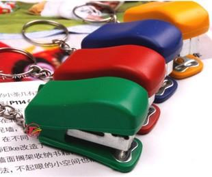 Factory direct sales creative Cute Mini stapler, key buckle pendant, small gifts wholesale