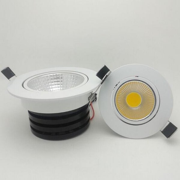 Dimmable LED Recessed Downlights adjustable COB Ceiling lamp fixture 3W 5W 7W 10W 15W for kitchen home 110V 220V Free shipping