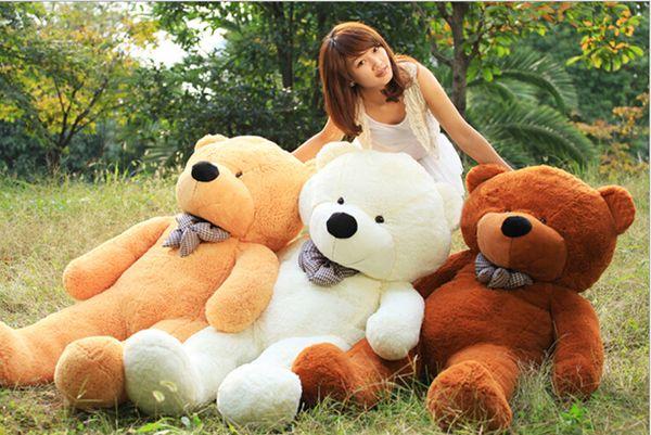 "Hot sale Free Shipping 6 FEET TEDDY BEAR STUFFED LIGHT BROWN GIANT JUMBO 71"" size:160cm"