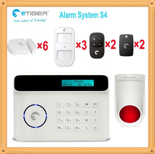Free shipping DHL, Wireless 50 zones new idea securty systems touch pad alarm host, house thief alarm system equiped external 110db siren
