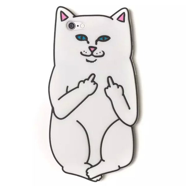 3d Cartoon Ripndip Lord Nermal Pocket Cat Silicone Rubber Case For Iphone Xs Max Xr 8 7 6s Plus Cases For Cell Phones Cell Phone Carrying Case From