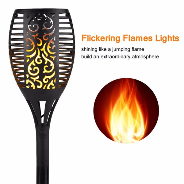 LED Solar Garden Flame Torch Light Flicker Candle Solar Powered IP65 Waterproof Hanging Decorative Lamp Outdoor Garden New Year Christmas