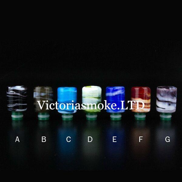 Punte di vetro a goccia 510 Art Colorful Glass Drip Tip Stile ricco Punta a goccia larga per aspirapolvere RDA MOD Mephisto Magma V3 Atty V2 E sigarette