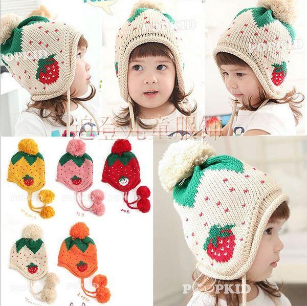 Fashion New Winter 5-Star Children Skullies & Beanies Scarf Hat Set Baby Boys Girls Knitted kids Hats & Caps