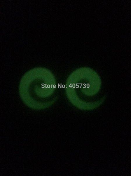 Newest Noctilucent Earring snail Ear Expander Plugs Flesh Tunnel Acrylic Glow In the Dark carved spiral taper Stretchers 2mm 8mm