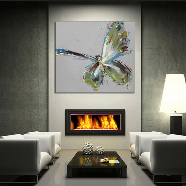 Hand Painted Home Decor Painting The Butterfly With Mangled Wings Oil  Painting On Canvas As A