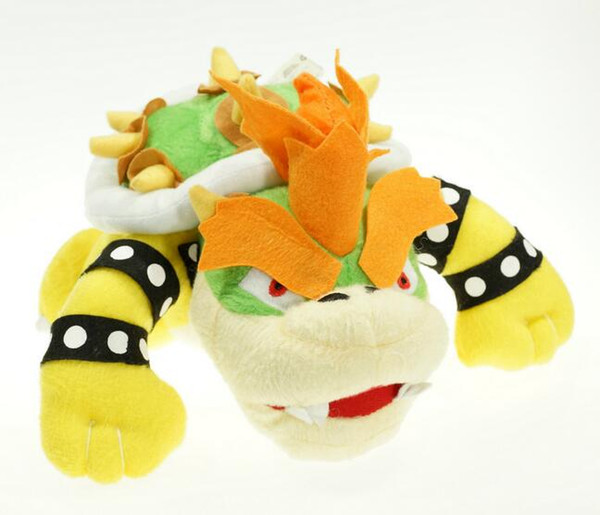 "Factory Direct Sales 30pcs/Lot Super mario plush toy 10"" 25cm BOWSER Plush Doll Figure Toy Kids Birthday Party Gifts"