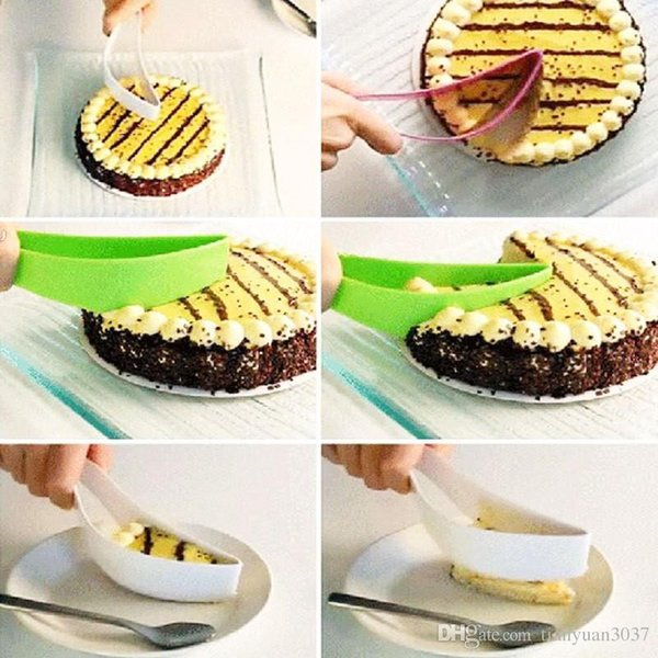 New Cake Pie Slicer Sheet Eco-Friendly Cutter Server Bread Slice Knife Kitchen Gadget kitchen knives cooking tools free shipping TY679