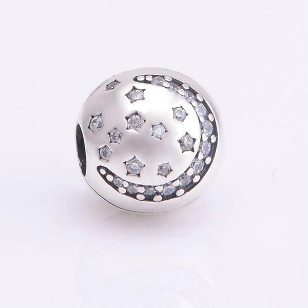 Christmas star clips charms S925 sterling silver jewelry fits for pandora bracelets antique free shipping KT086-NH9