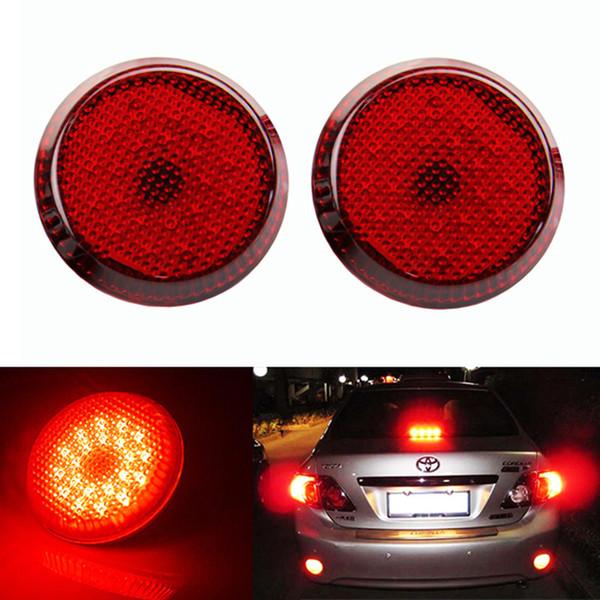 DC 12V Automobiles LED Light For Toyota Scion xB iQ Red Lens Bumper Reflector 12V 21 SMD 1210 LED Tail Brake Stop Light Corolla