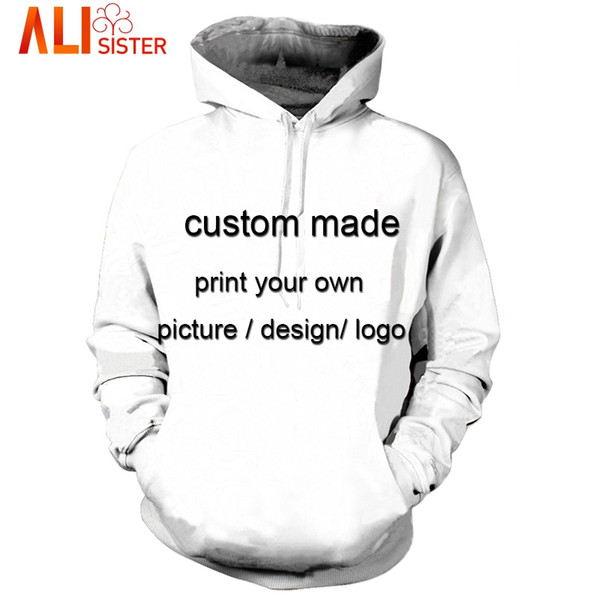 151d28499 Wholesale- Alisister Custom Made Hoodies Sweatshirt 3d Print Men's  Pullovers Plus Size Unisxe Brand Clothing