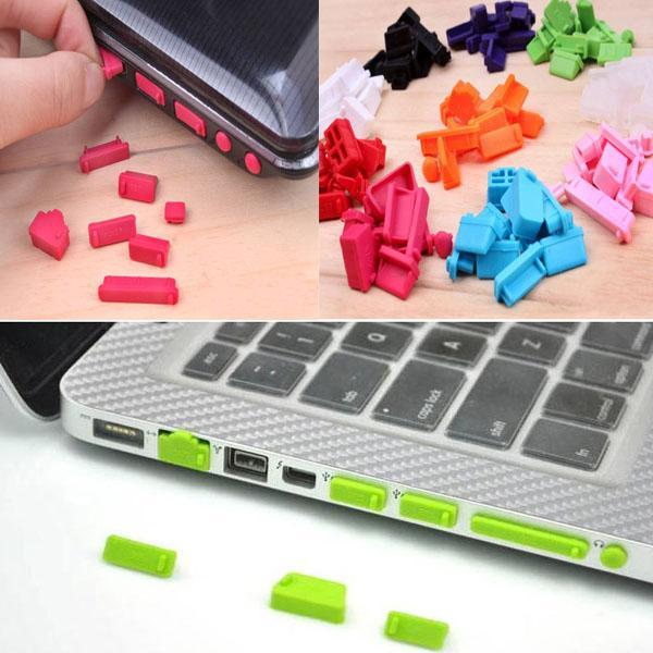 1set / 13 pcs prise anti-poussière de silicone ports de protection couvercle bouchon ordinateur portable ordinateur portable