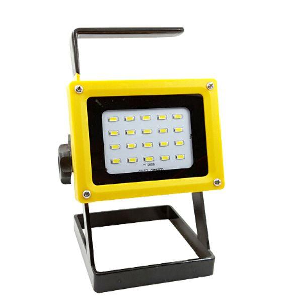 portátil 10 w llevó la luz de inundación No 18650 batería recargable reflector reflector lámpara impermeable al aire libre ip65 iluminación