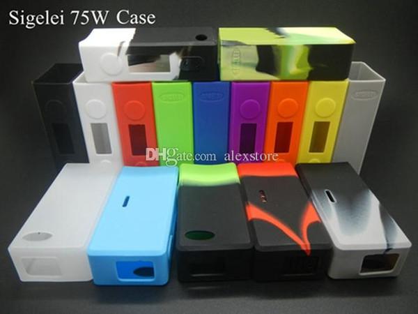 Custodia protettiva in silicone Custodia protettiva in silicone Custodia protettiva in silicone per Sigelei 75W TC 75watt Scatola di controllo della temperatura Mod DHL