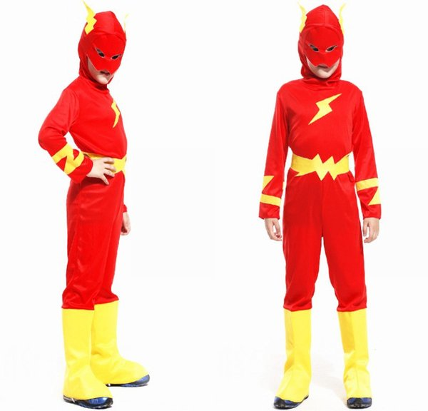 childrens cosplay 3 7 years party kids comic marvel blitz flash man not muscle halloween