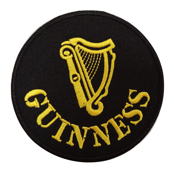 GUINESS letters logo DIY apparel accessories embroidery sew on iron on patch for Jacket Jeans Clothing Badge