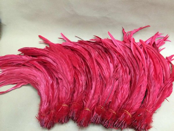 Free shipping 100pcs/lot 14-16inch red Cock Tail loose rooster Feather coque feather loose for halloween party costume decor