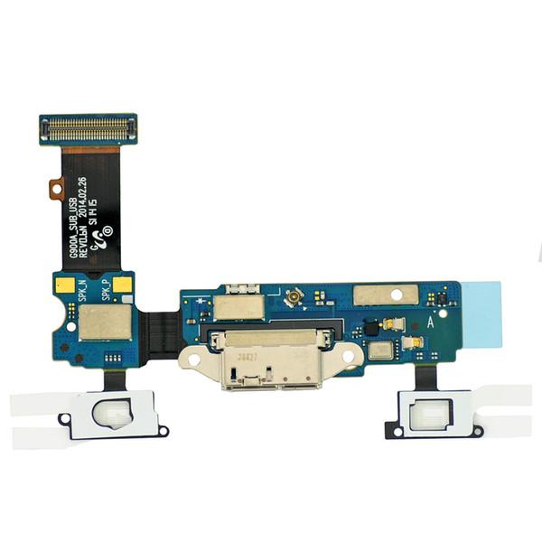 Novo original usb charger porto flex cable para samsung galaxy s5 g900 dock connector flex carregamento com fone de ouvido jack substituição