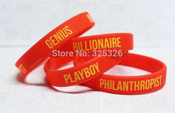 Free shipping 500pcs/lot High quality logo text words print Custom silicone bracelet silicone rubber wristband