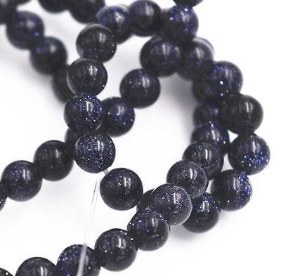 "10mm Galaxy Staras Blue Sand Sun Sitara Loose Beads 15/"""