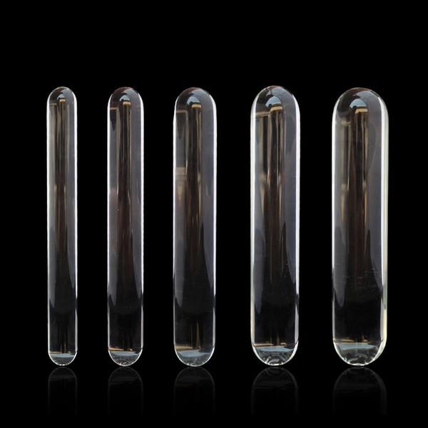 Glass Dildo Masturbator Crystal Pyrex Penis Anus Stimulator Anal Spreader Plug for Male Female Sex Toy New Style Various Size B0104015