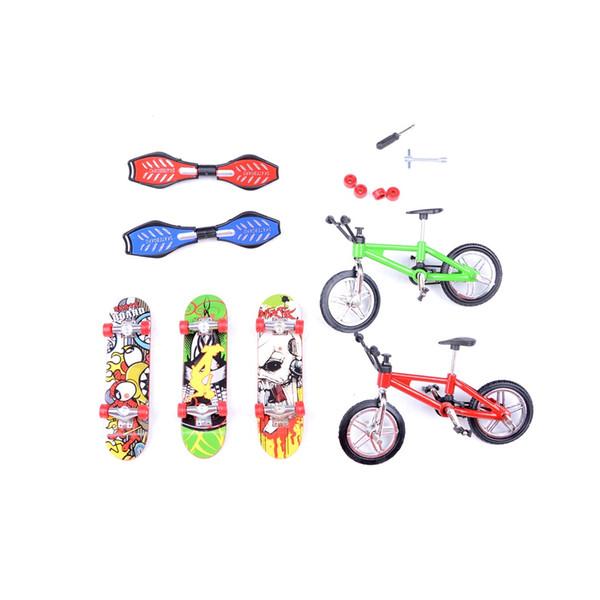 Giocattoli da skateboard e finger bike Giocattoli Premi per bambini Mini-Finger-Bmx Tastiera Finger Skate Board Scooter Bicicletta per bambini