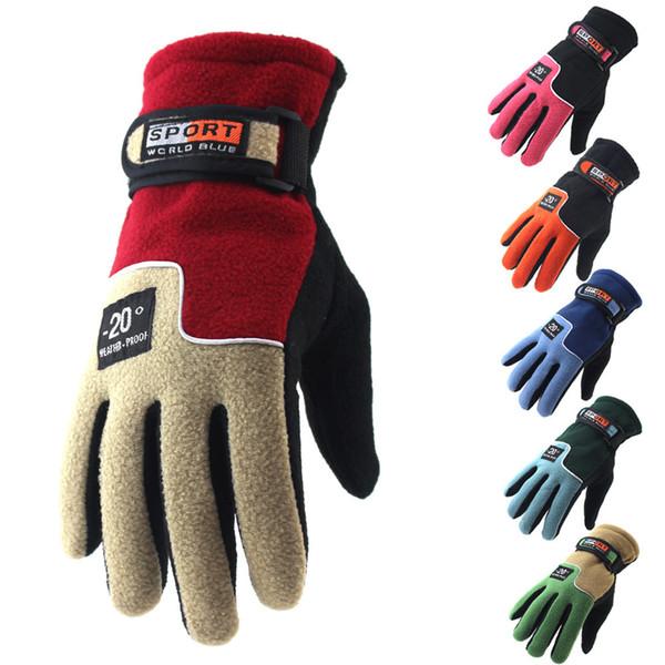 top popular Winter Snow Waterproof Thicken Warm Ski Gloves Snowboard Mittens Cotton Fiber Lined Gloves for Outdoor Travel Sports Gloves mk188 2019